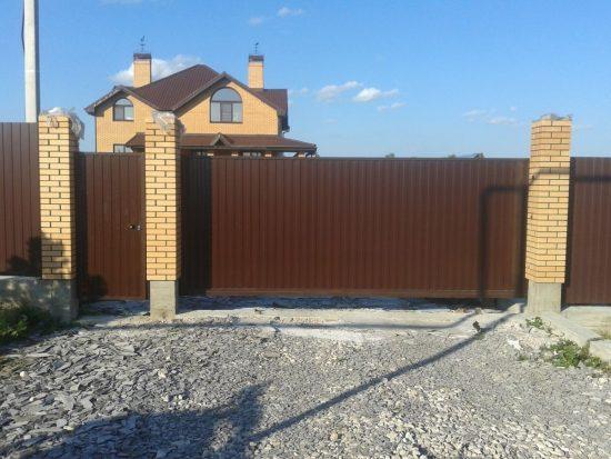 Откатные ворота в Туле